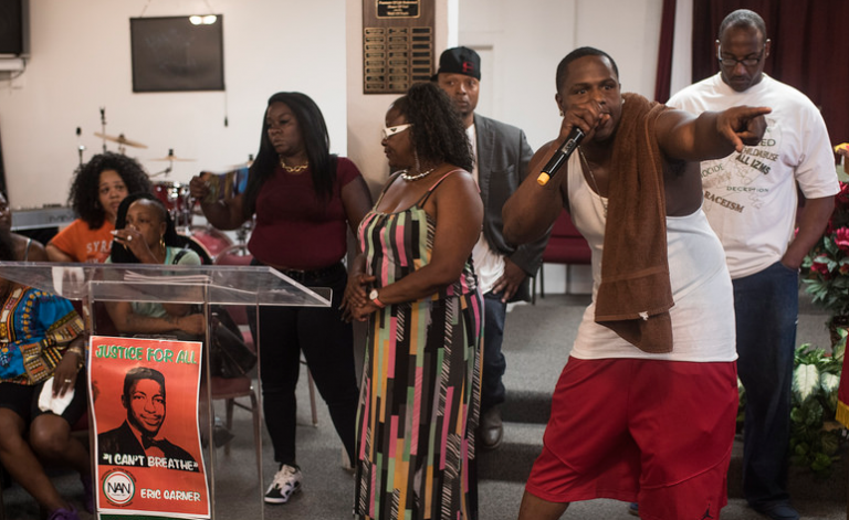 A man, who did not provide his name, voiced his anger during Tuesday night's National Action Network meeting. | Ben Cleeton