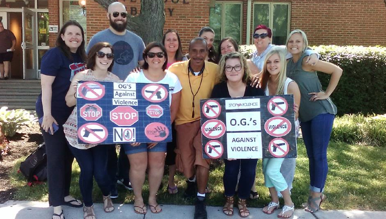 Syracuse therapists meet with Clifford Ryan, of OG's Against Gun Violence, June 24.