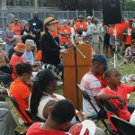 Mayor Stephanie Miner, Syracuse, Skiddy Park