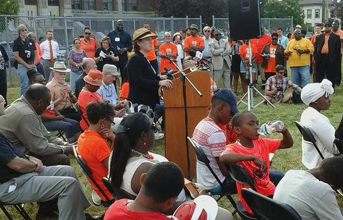 Mayor Stephanie Miner, Syracuse, Skiddy Park