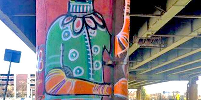 Artist Collective Brightens Below I-81 Viaduct